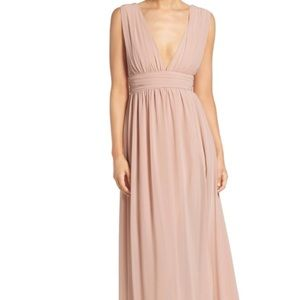 LULUS- Plunging V-Neck Chiffon Gown
